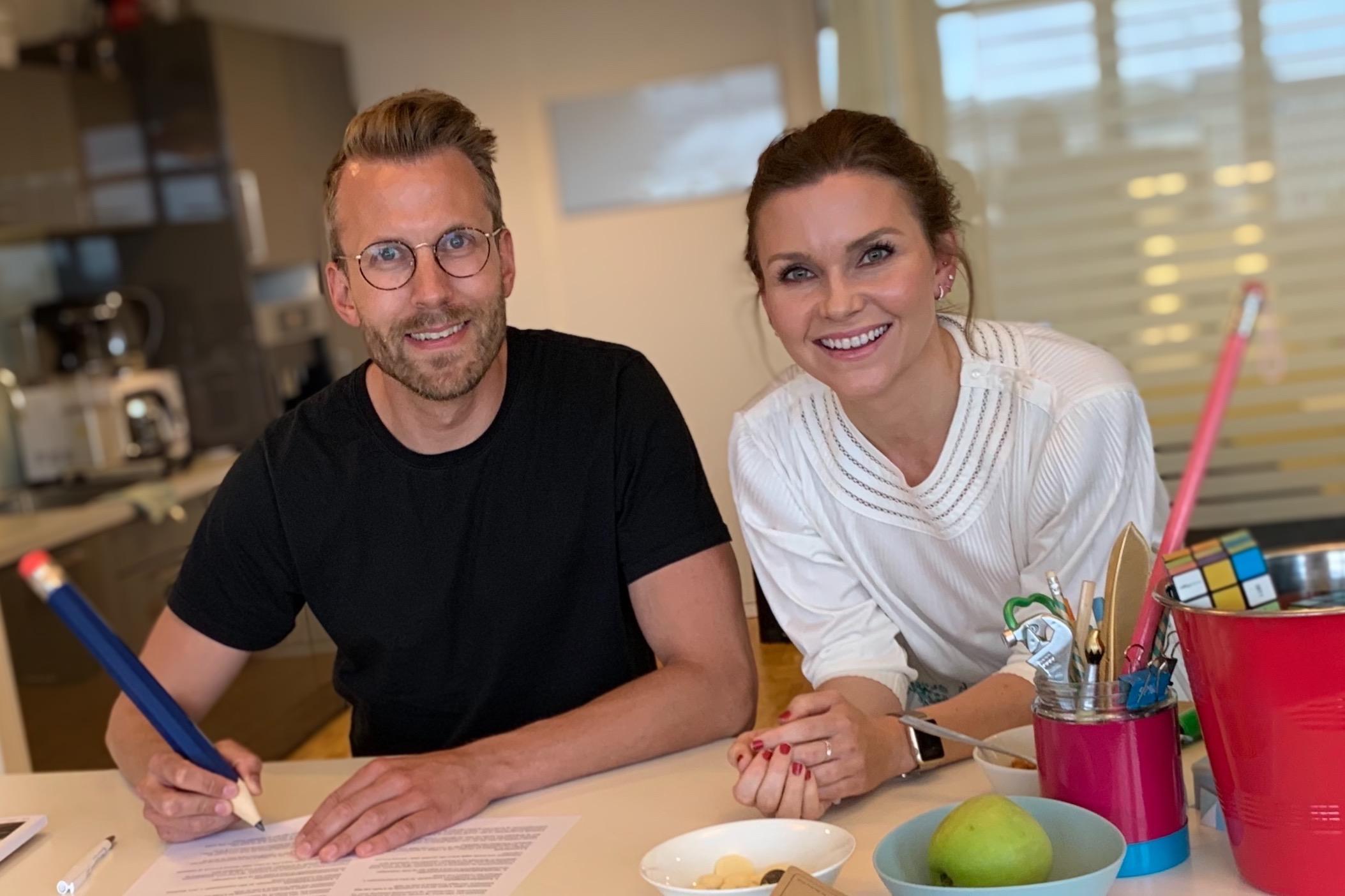 Camilla Hager og Daniel Skjelde